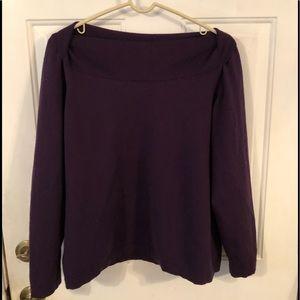Banana Republic sweater with folded neckline